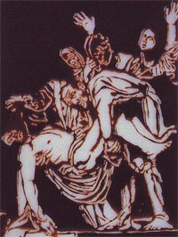 Removal from the Cross, after Caravaggio, 2000