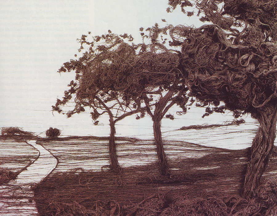 4,000 Yards (Apple Trees, after Gerhard Richter), 1998 by Vik Muniz